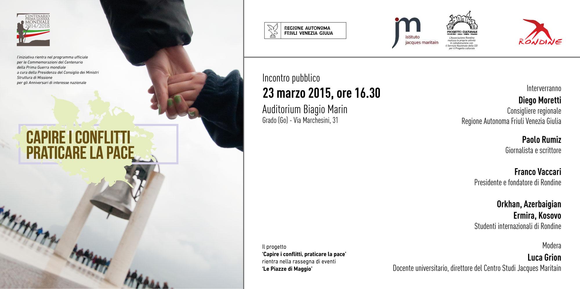 """Centenario. Si apre con Paolo Rumiz il progetto""""Capire i conflitti – Praticare la pace"""" in Friuli Venezia Giulia"""