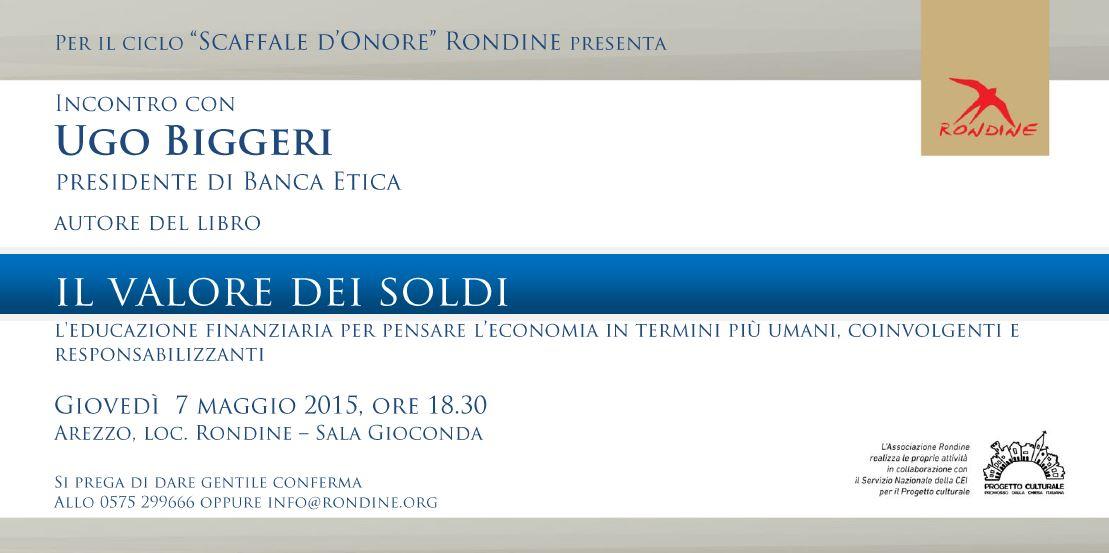 """Torna lo """"Scaffale d'Onore"""". Ugo Biggeri a Rondine per presentare il libro """"Il valore dei soldi"""""""