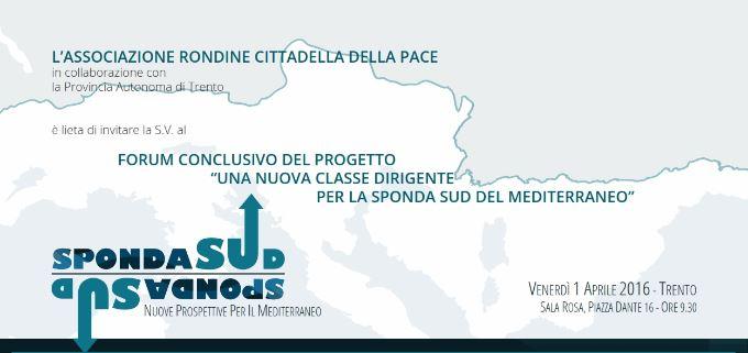 """Diretta streaming Forum """"Sponda Sud. Nuove prospettive per il Mediterraneo"""""""