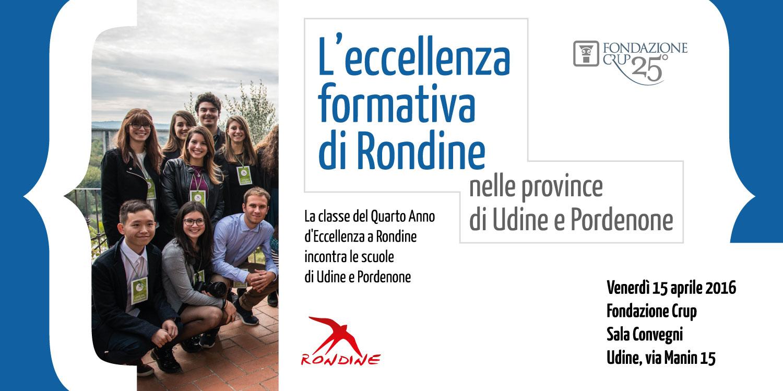L'Eccellenza formativa di Rondine nella Province di Udine e Pordenone