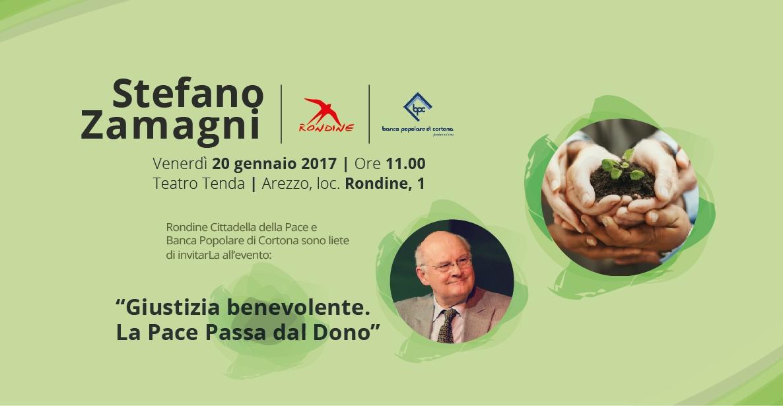 """Stefano Zamagni a Rondine. """"Giustizia benevolente. La pace passa dal dono"""""""