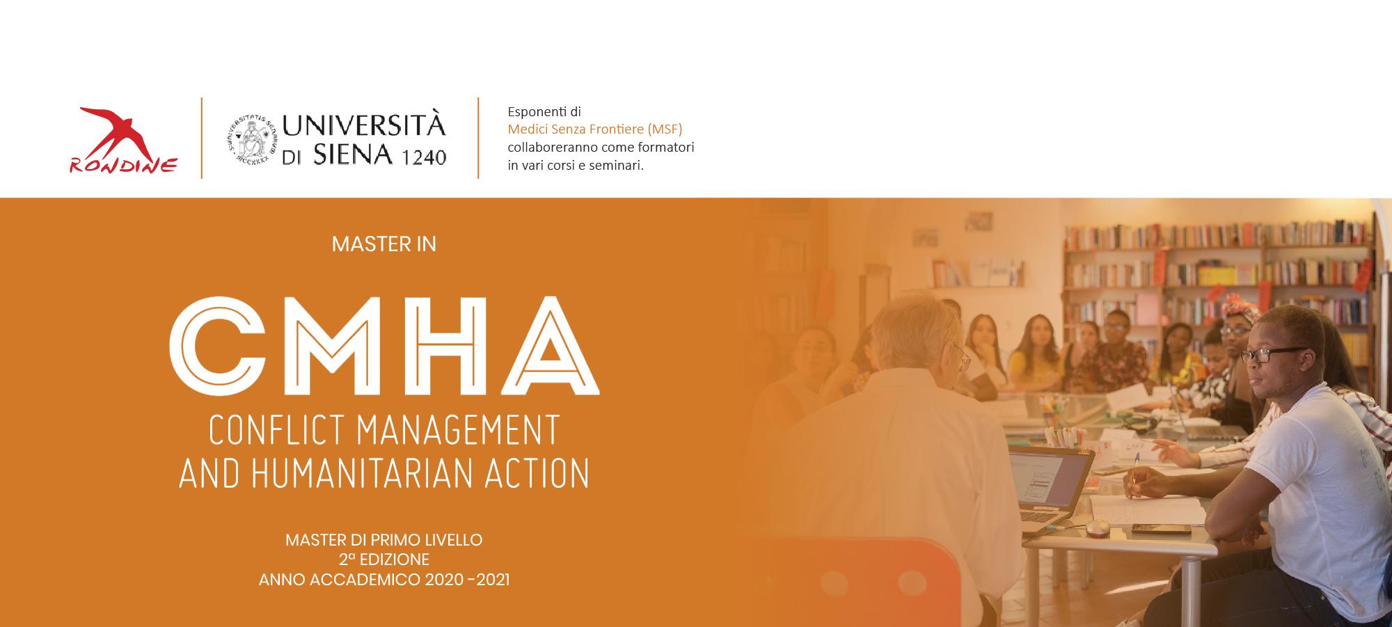 """Master in""""Conflict Management and Humanitarian Action"""", aperto il bando alla seconda edizione"""