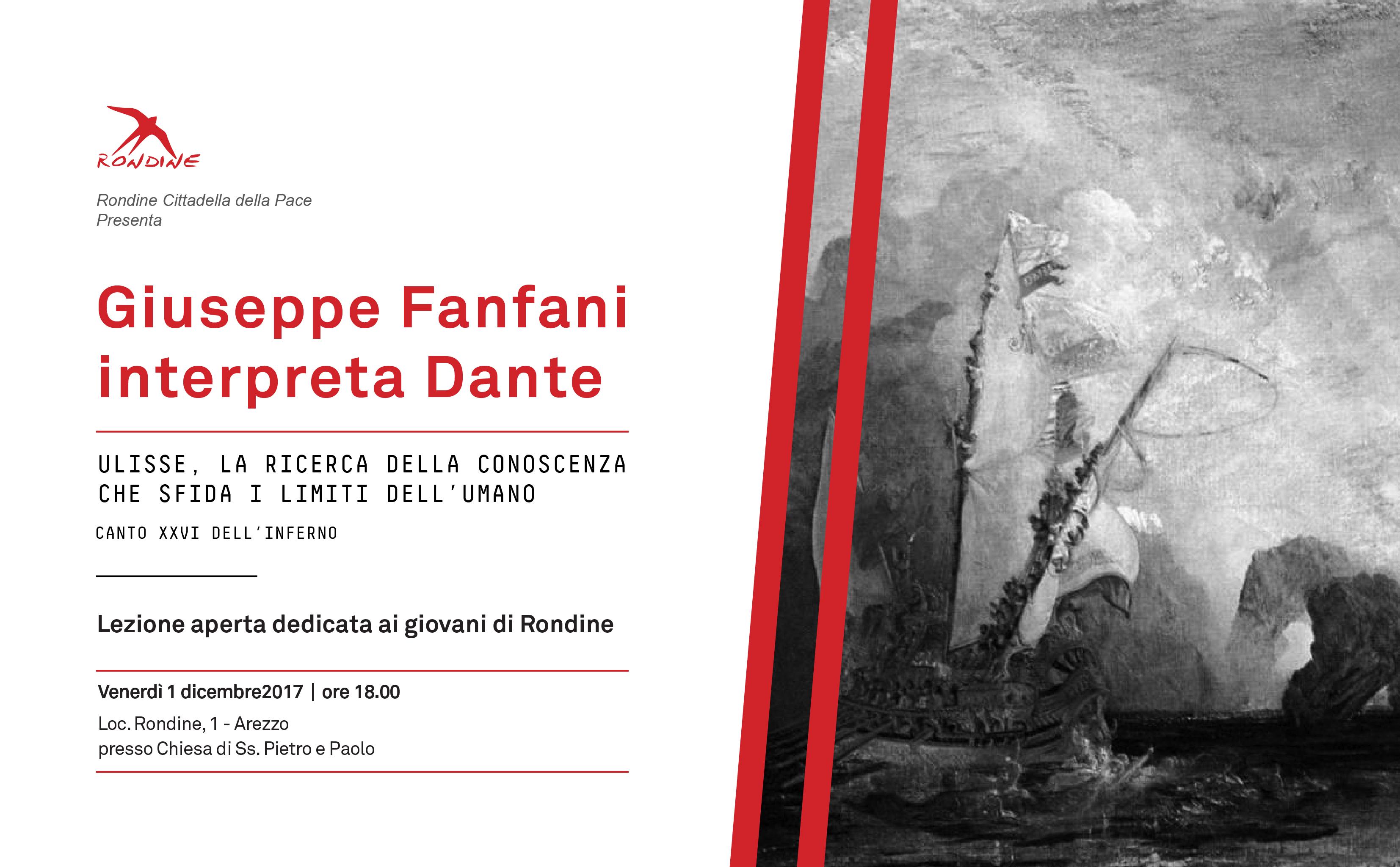 Giuseppe Fanfani interpreta Dante. Ulisse, la ricerca della conoscenza che sfida i limiti dell'umano