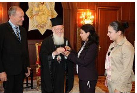 The Ecumenical Patriarch Bartholomew I visiting Rondine Cittadella della Pace