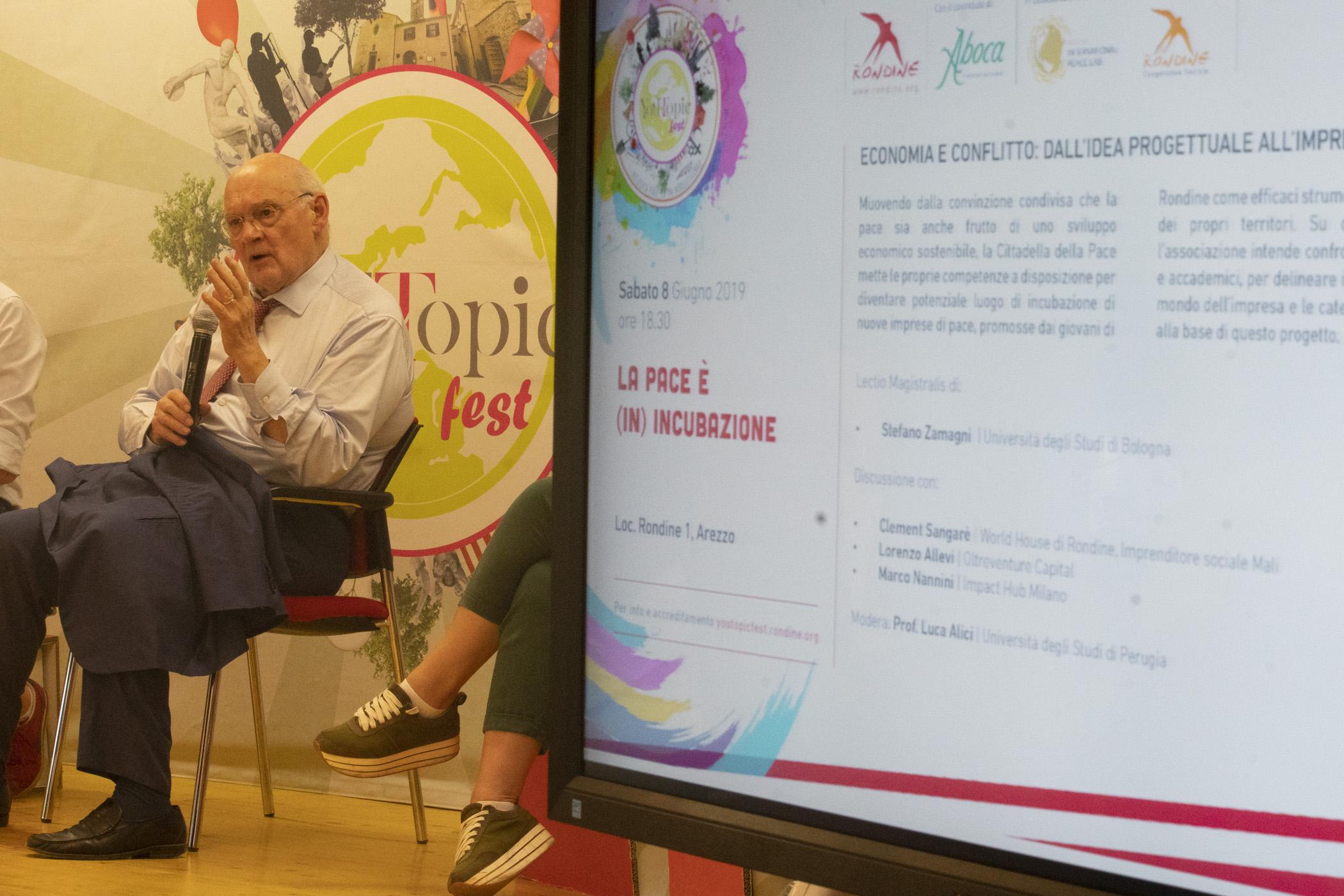 """Zamagni: """"L'impresa di pace di Rondine: un'idea vincente"""". Si chiude la quarta edizione di YouTopic Fest"""