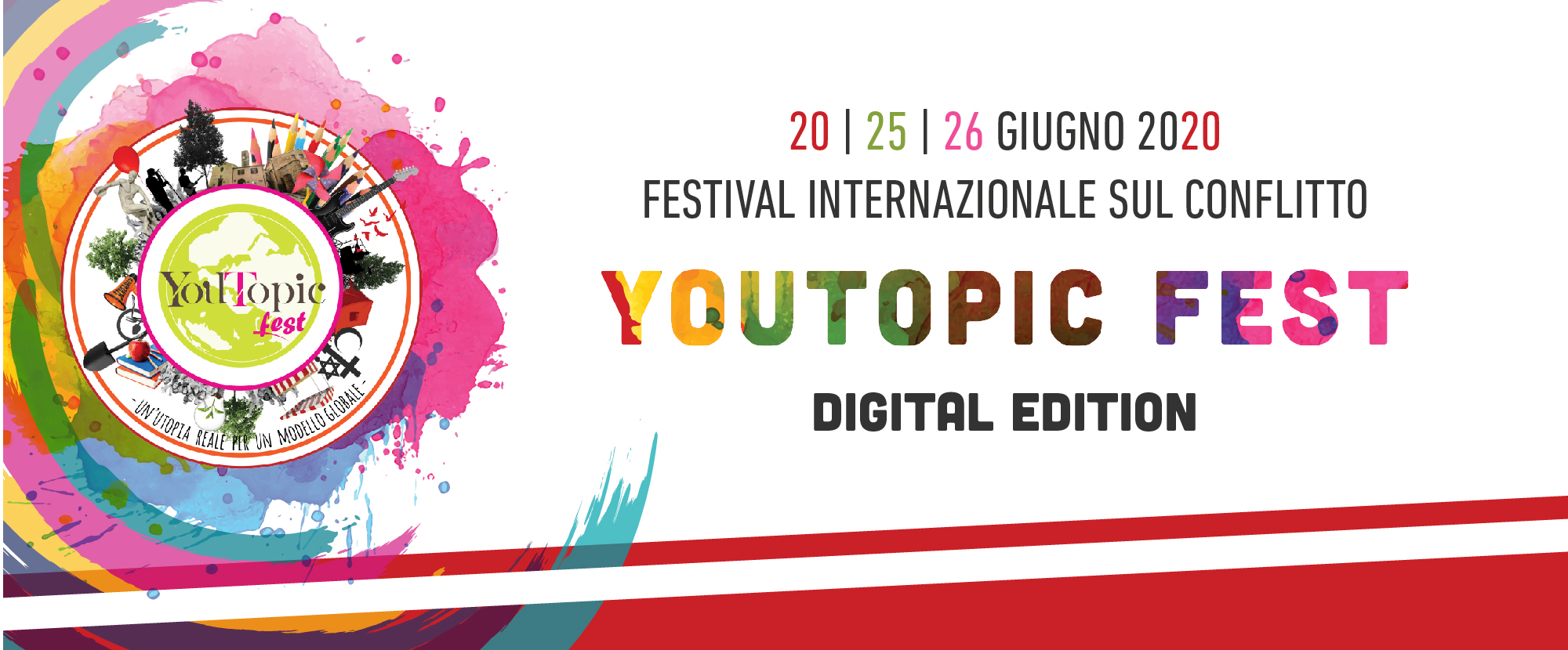 YouTopic Fest 2020: Digital Edition | 20 | 25 | 26 Giugno