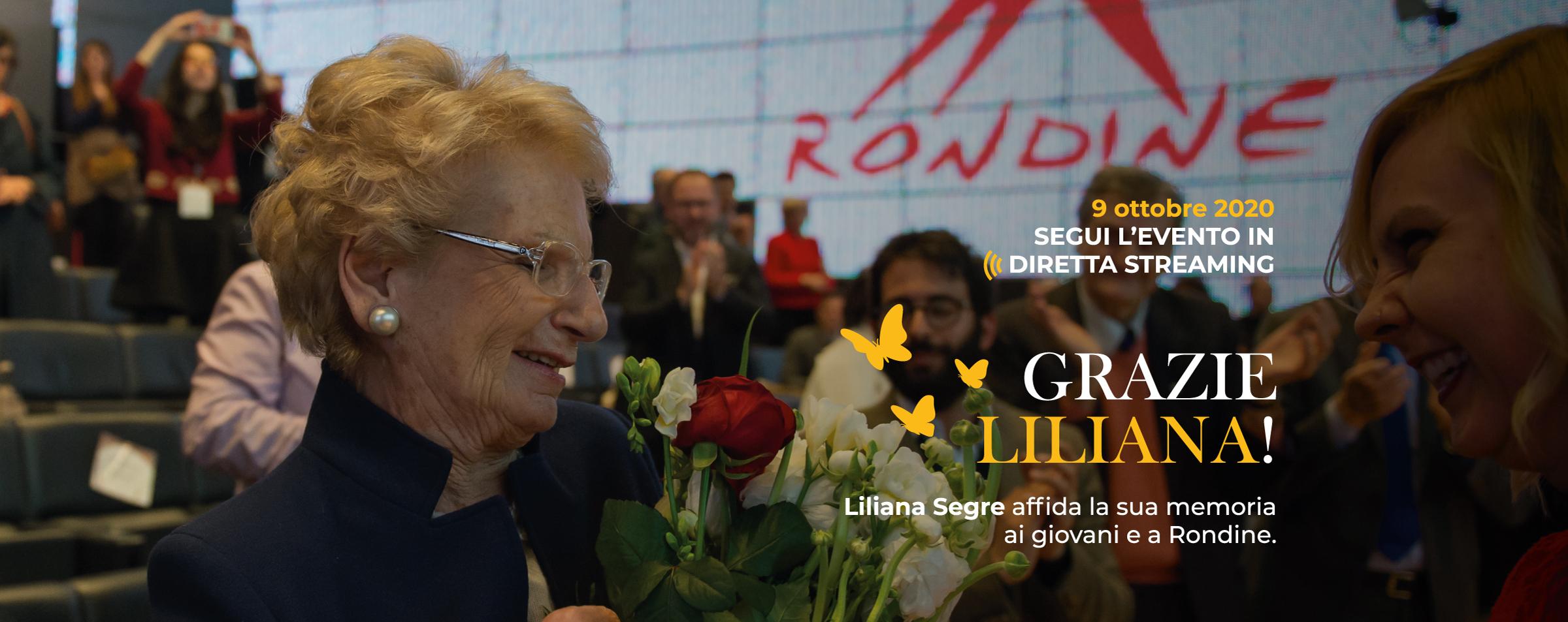 """""""Grazie Liliana!"""" Il 9 ottobre il passaggio del testimone ai giovani da Rondine"""