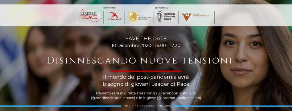 Covid e conflitti: i giovani di Rondine a dialogo con i leader globali per un domani post-pandemico sostenibile, giusto, inclusivo