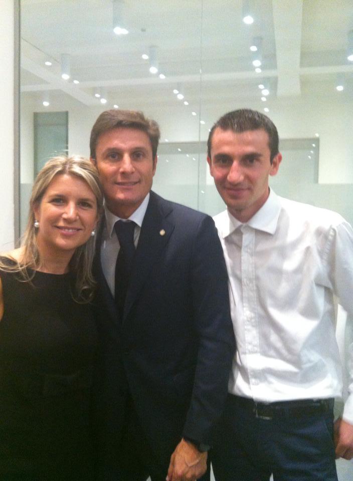 """Albnor: """"Grande emozione incontrare Javier Zanetti!"""""""