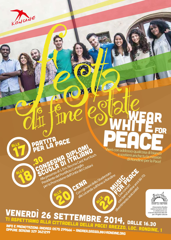 """""""WearWhiteForPeace"""". Partecipa al  grande evento per la pace promosso da Rondine"""