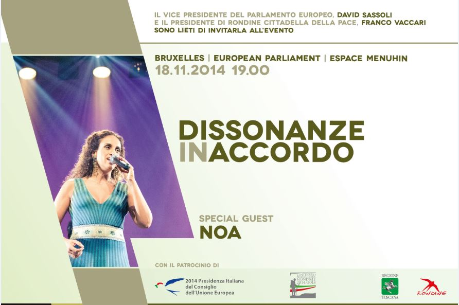 Dissonanze in Accordo arriva al Parlamento europeo con Noa