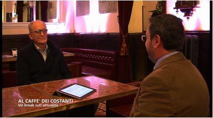 """Franco Vaccari ospite su Tsd. """"Al Caffè dei Costanti"""": un break sull'attualità."""
