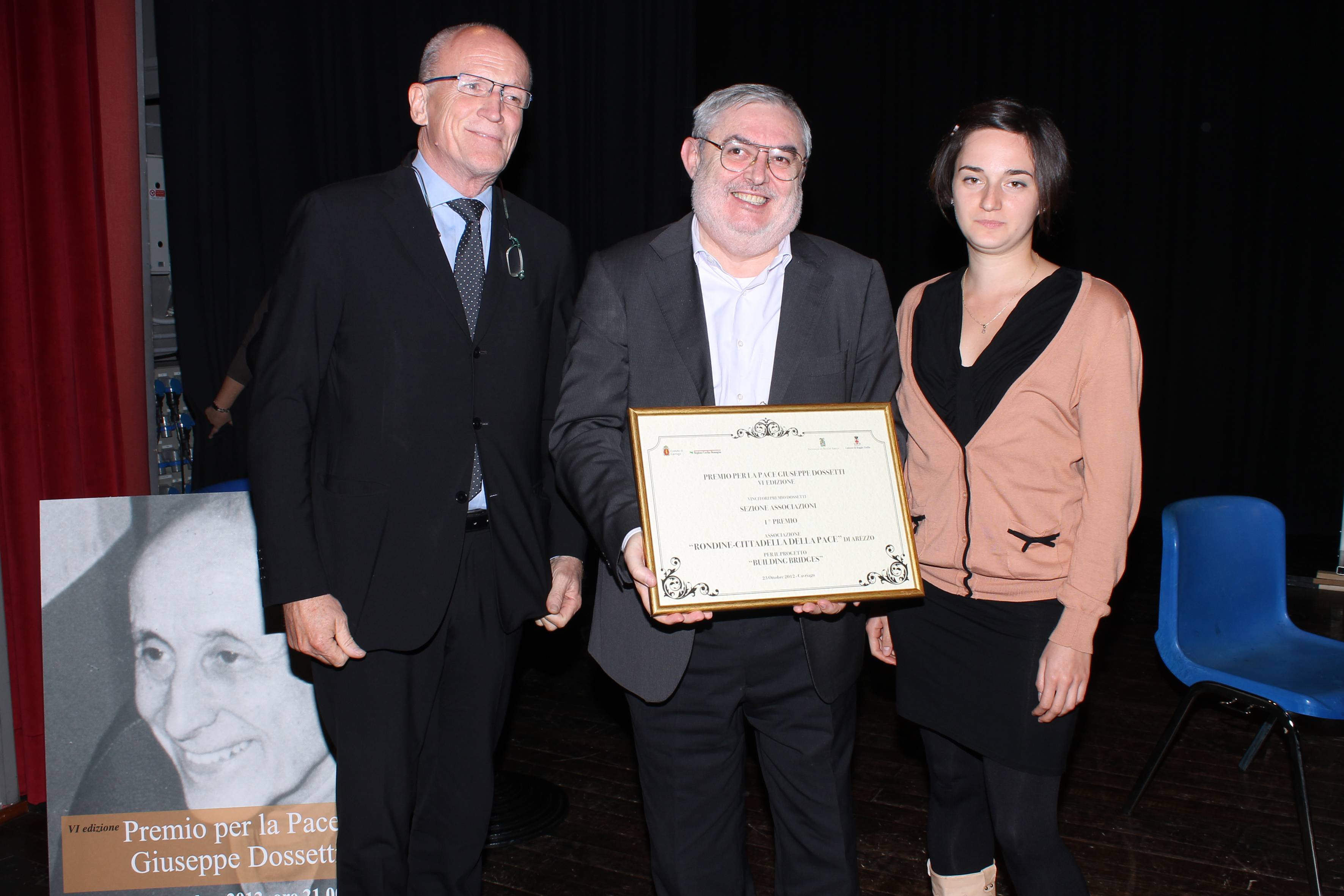 Rondine riceve il Premio per la Pace G. Dossetti