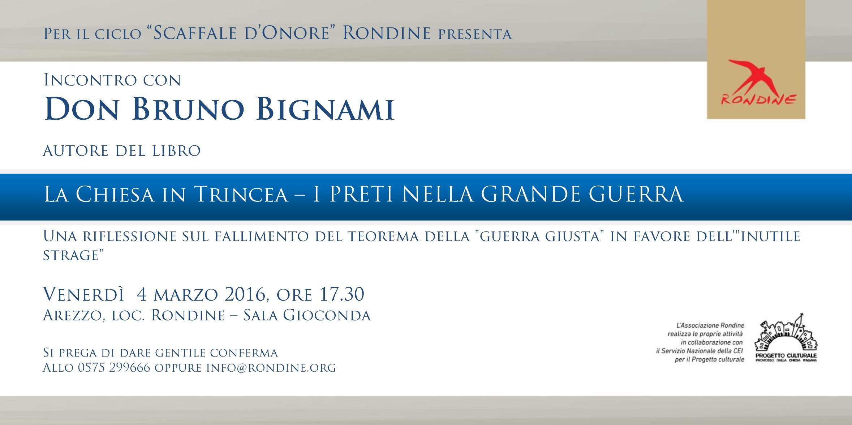 Scaffale d'Onore. Incontro con Don Bruno Bignami