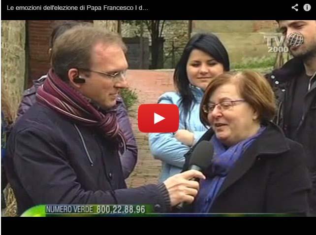 Le emozioni dell'elezione di Papa Francesco dalla Cittadella della Pace