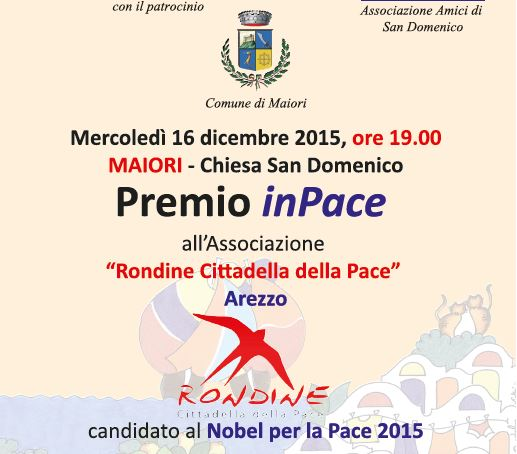 A Rondine il Premio nazionale inPace