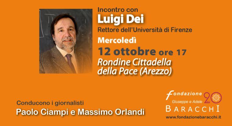 """""""Il Futuro ha bisogno di Voi"""", i giovani  incontrano Luigi Dei,  Rettore dell'Università di Firenze, a Rondine"""