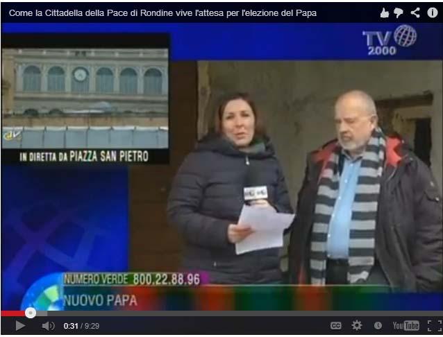 Franco Cardini ospite della diretta da Rondine di TV2000