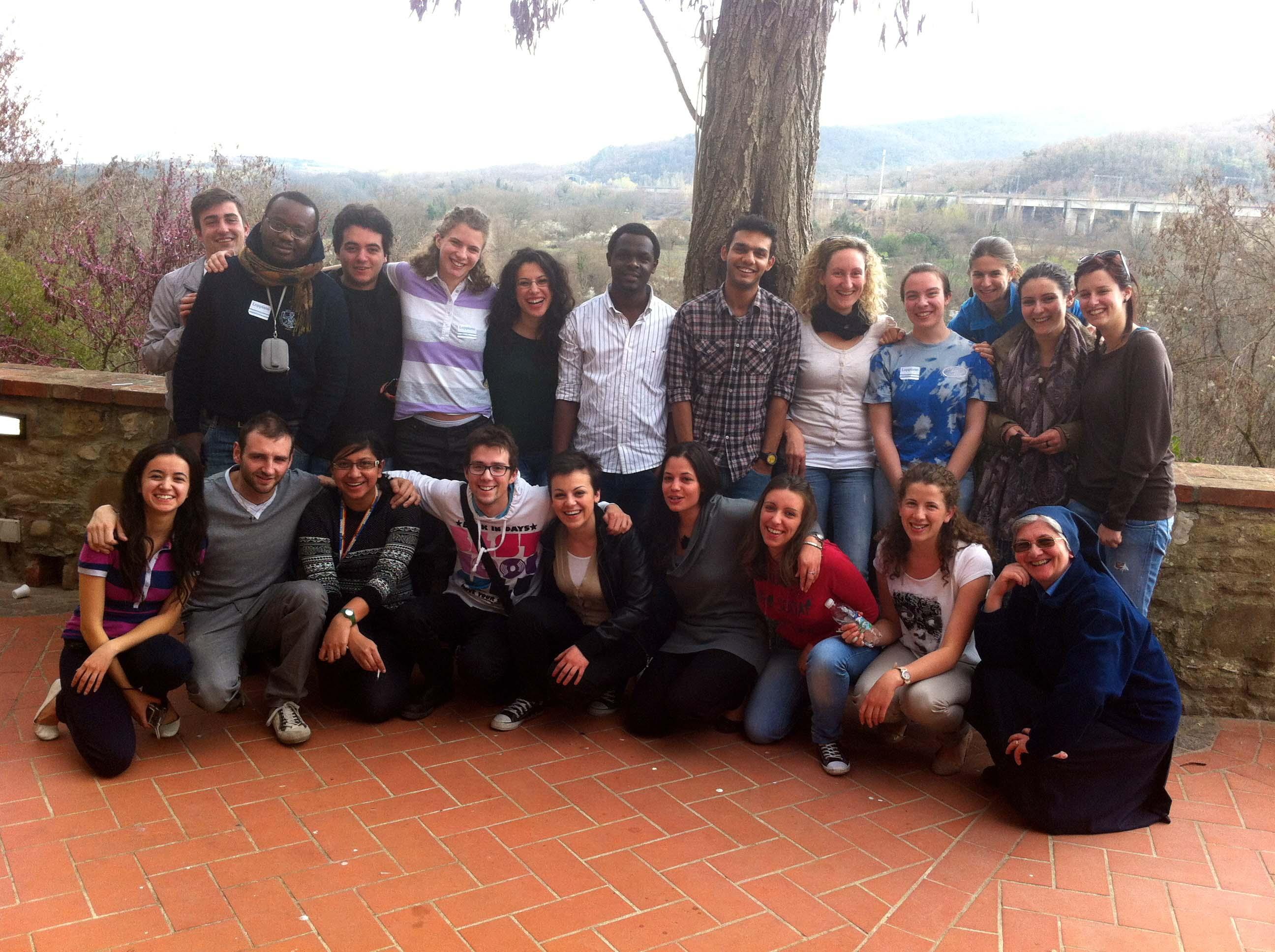 I giovani della Caritas di Brescia in visita allo Studentato