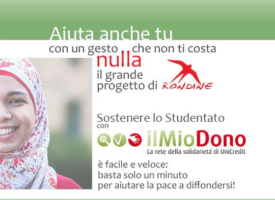 Con Rondine sostieni la pace: Basta un click!