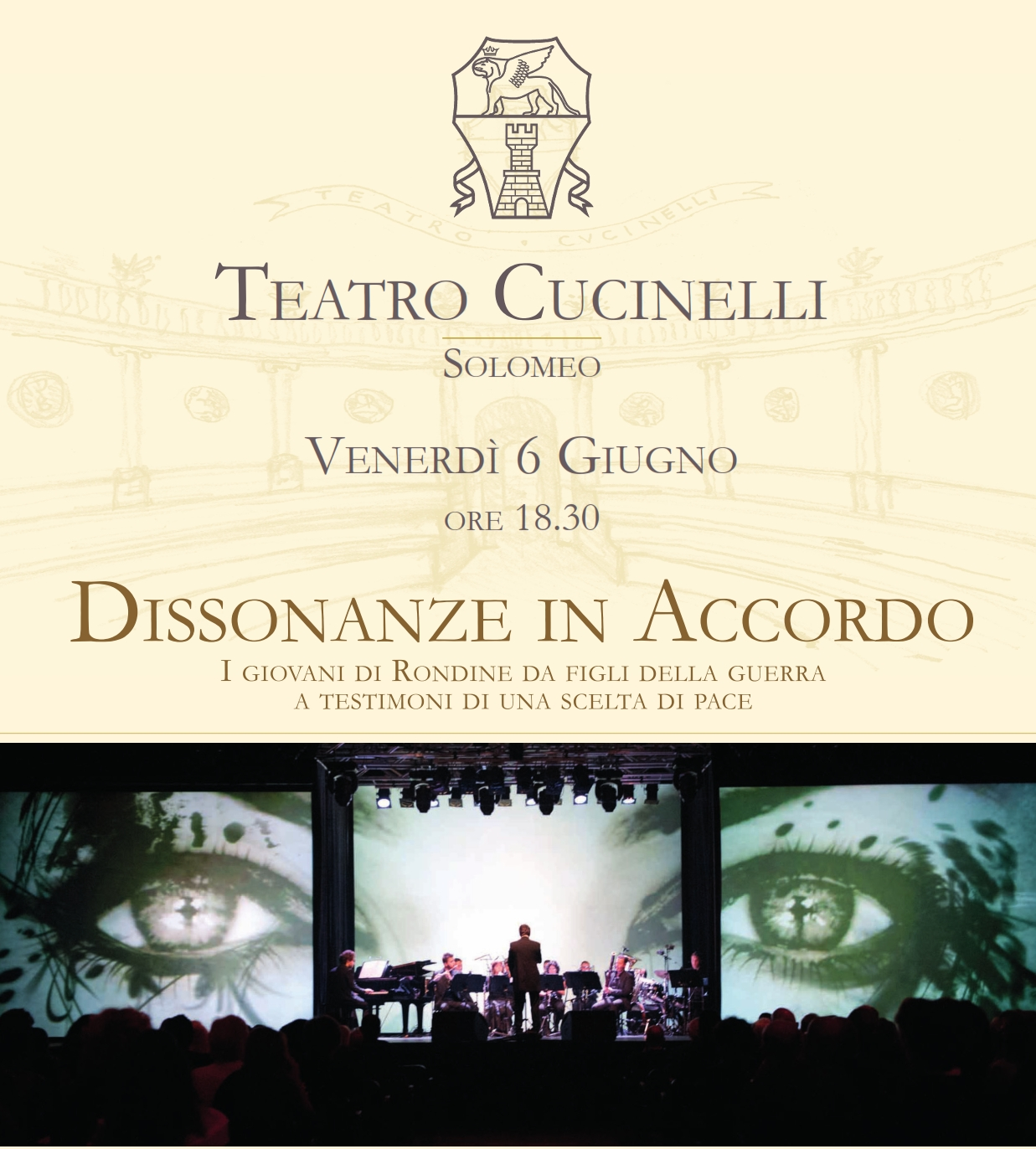 Dissonanze in Accordo in scena il 6 giugno al Teatro Cucinelli