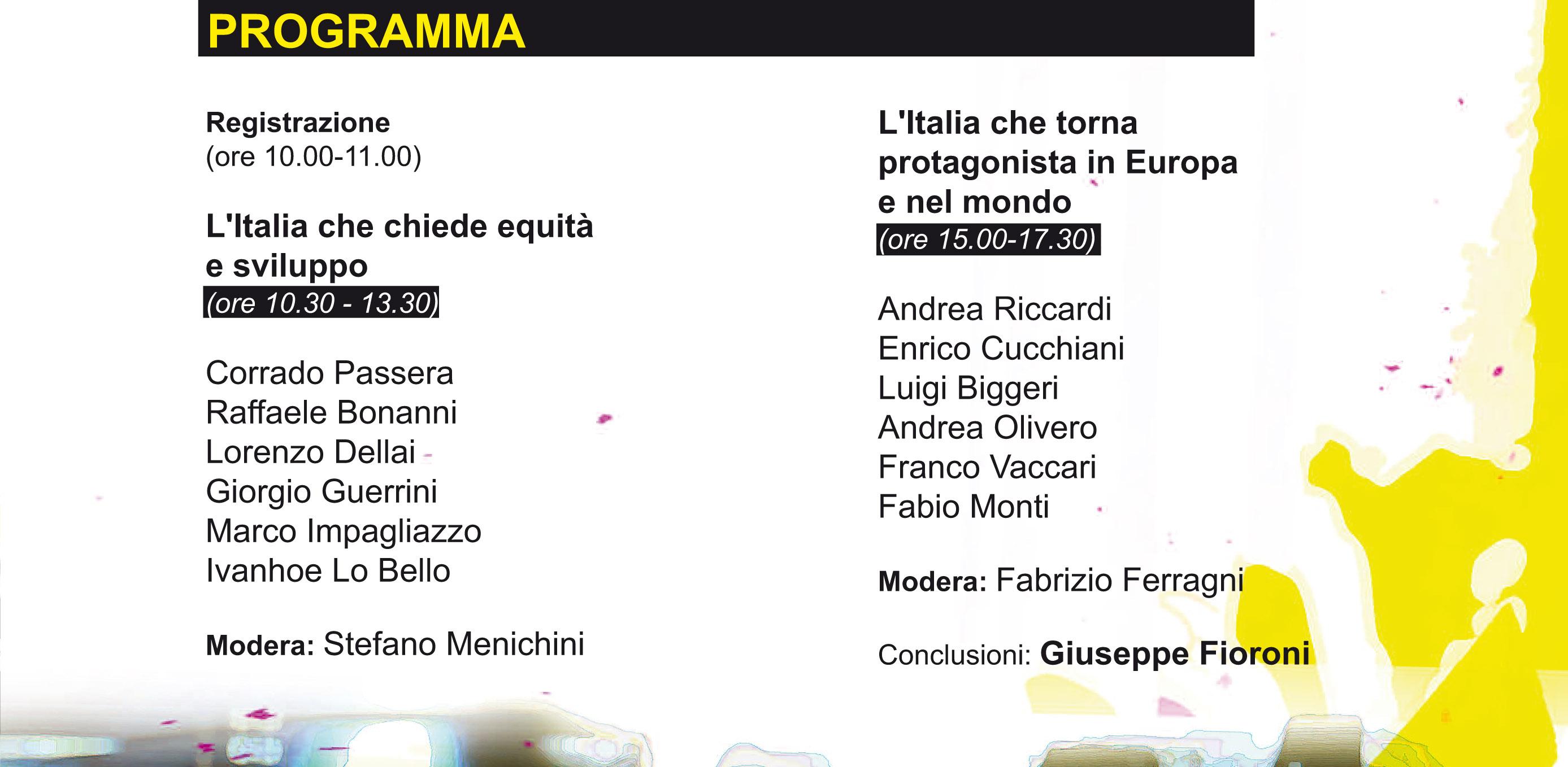 """Franco Vaccari al convegno """"Insieme cambiamo l'Italia"""""""