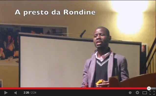Voci da Rondine: Tony. Ancora un ambasciatore di pace che da Rondine vola verso la sua primavera