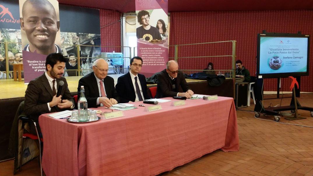 """Stefano Zamagni: """"La pace è possibile"""". Il dono come elemento fondamentale per costruire una società senza conflitti"""